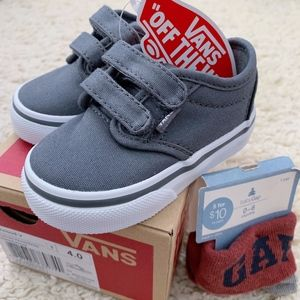 VANS Canvas Atwood V Toddler Shoes in Pewter NWT